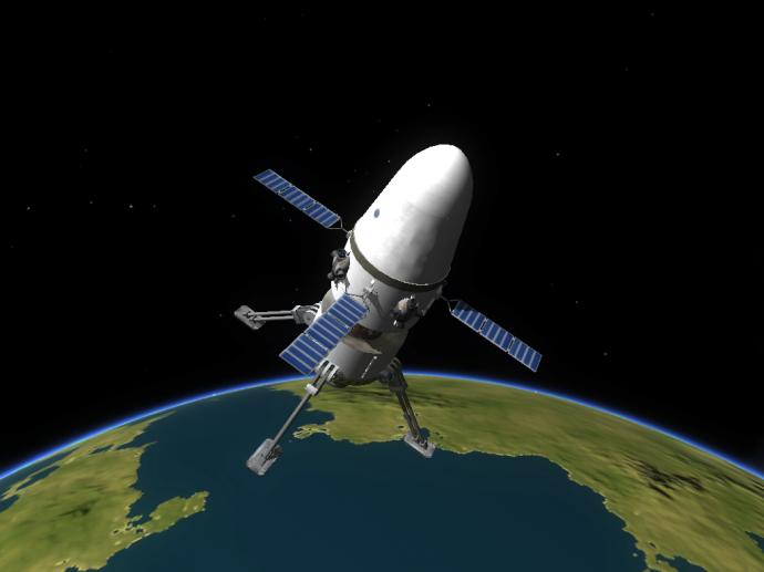 Ännu en Zeus-kapsel i omloppsbana kring Kerbal