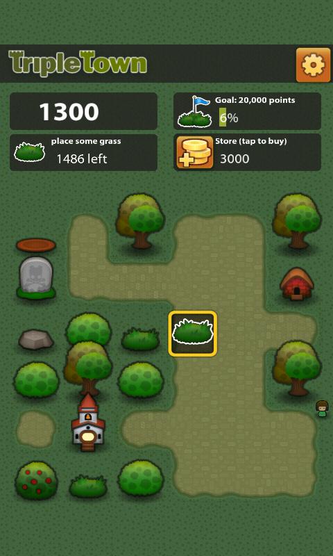 Скриншоты игры Triple Town для Android. Игровой процесс Тройной Город.