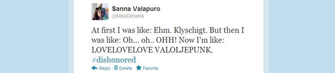 At first I was like: Ehm. Klyschigt. But then I was like: Oh... oh.. OHH! Now I'm like: LOVELOVELOVE VALOLJEPUNK. #dishonored